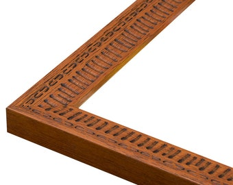 "Molokai Brown Tiki Picture Frame. 1 1/8"". 4x6,5x7,6x8,8x10,9x12,11x14,12x16,14x18,16x20,18x24"