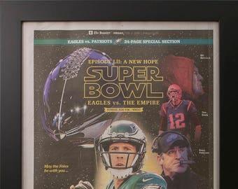 Framed Philadelphia Eagles Super Bowl Special Edition 2018  Newspaper Insert