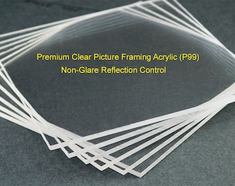 99 Uv Protective Picture Framing Acrylic Sheet Conservation Etsy