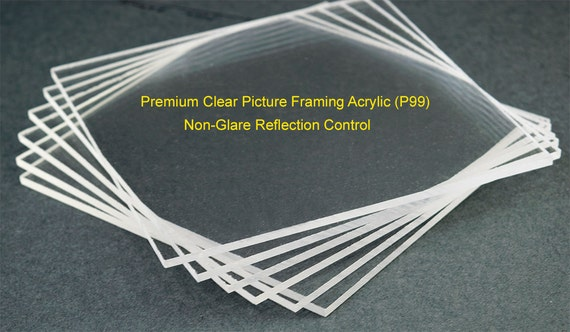 Non Glare Picture Framing Acrylic Sheet Reflection Control Etsy