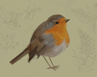 A6 postcard, Red Robin, Recyclingpaper