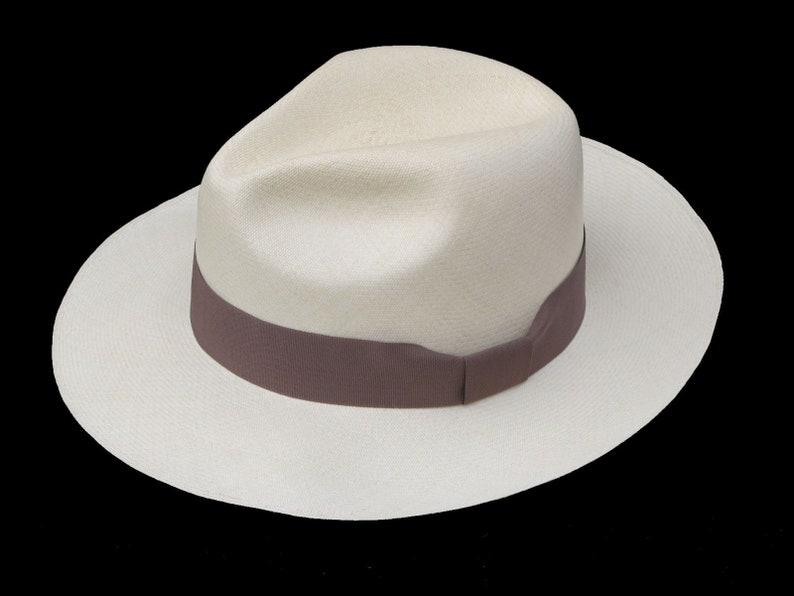 "15 weaves  Men Woman Straw Fedora Genuine Panama Hat from Montecristi /""Trévil/"""