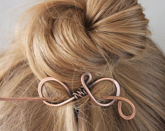 Plain Metal Hair Clip for Women, Copper Wire Hair Accessories with Twisted Wire, Mom Gift for Women, Unique Gift for Her