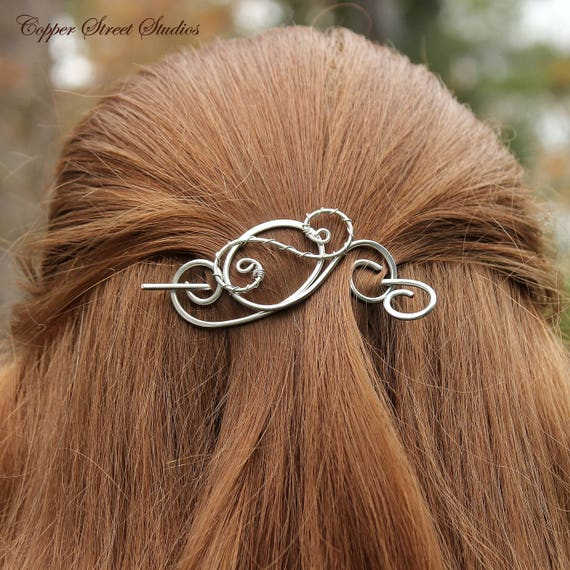 Silver or Bronze Hair Pin Women/'s Accessories Hair Slide in Copper Small Metal Hair Clip for Women