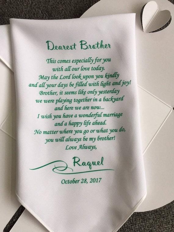 Mein Bruder Geschenke Auf Seiner Hochzeit Etsy