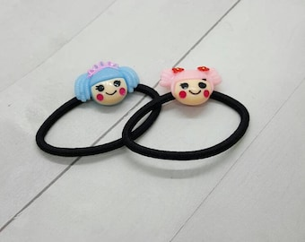 Cute doll ponytail holder, hair tie, hair elastic (PH012)