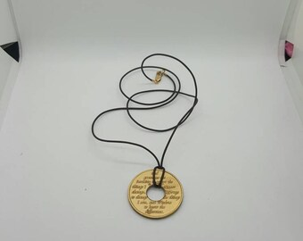 Serenity Prayer token  necklace  (NK034)