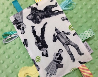 Wizard of Oz tag toy, sensory tag toy, Wizard of Oz baby toy, crinkle tag toy, Wizard of Oz baby