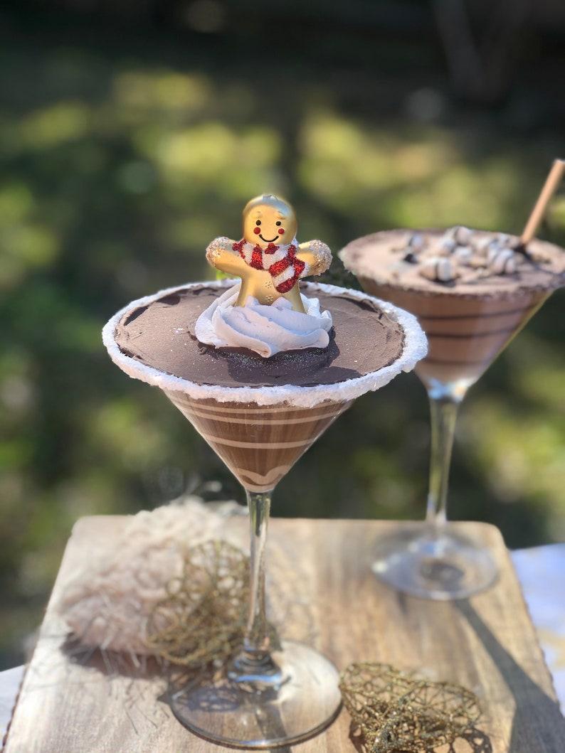 Fake Chocolate Martini with Carmel swillglass