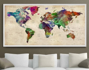 Decorative world map | Etsy on