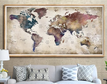 Abstract Map Of The World.Abstract World Map Etsy