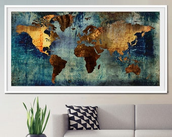 Abstract world map etsy abstract world map abstract art gumiabroncs Gallery