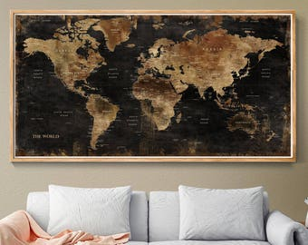 World Map Wall Art, Vintage World Map Poster, Wall World Map Poster, Retro  World Map, Wall Home Decor, Old Style World Map (L153)