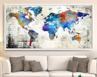 Sale push pin travel map world travels map map art world sale push pin travel map world travels map map art world map art print paper anniversary gift push pin map large map l103 gumiabroncs Image collections
