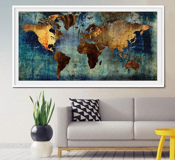 Abstract world map abstract art art print world map art etsy image 0 gumiabroncs Choice Image