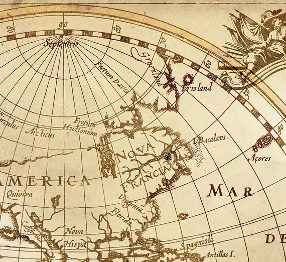 Old World Map Historic Map Antique Style World Map Vintage Map Etsy