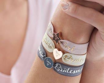 Personalised Wedding Bracelet, Personalised bracelet, Wedding jewellery, Bracelet, Bridesmaid gifts, Flower girl gifts, Maid of Honor gifts.