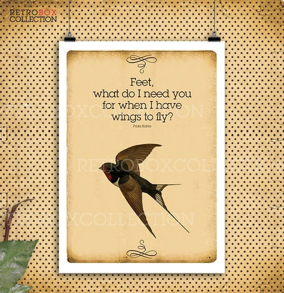 80 Off Swallow Poster Fly Quotes Birds Flying Frida Kahlo Etsy
