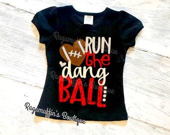 Girls football shirt, little football fan shirt, football shirt, football season shirt, girls football season shirt, kids game day shirt