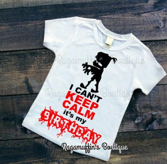 Boys Birthday Shirt Zombie