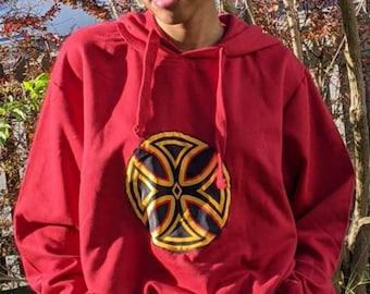 Flame, unisex Tibal Ethno hoodie