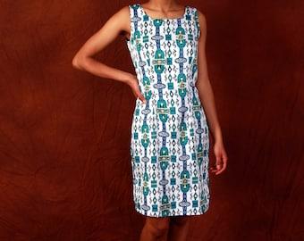 African print Coctail above knee Dress - Madea