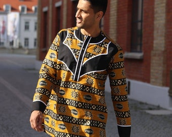 Classic elegant African Ankara Print shirt long arm shirt for men