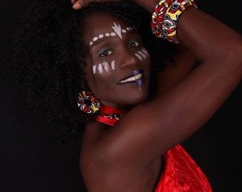 Massala - A colourful set of handmade African fabric  Accessories