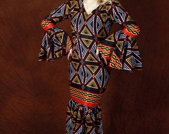 Adorable Mermaid Cameroonian print Gown - Nkemnon