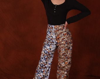 African print Palazzo Trouser