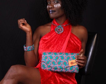 FANCCI is a Set of African Fashion  Accessories- made up of a Purse, Chunk bangles, necklace/chain