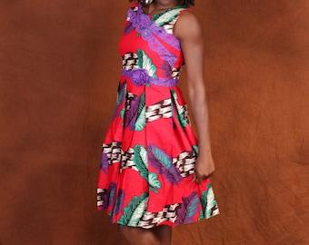 Mela  African print cotton dress