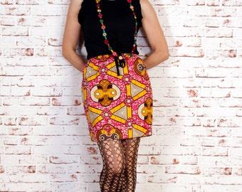 Bright African cotton Skirt
