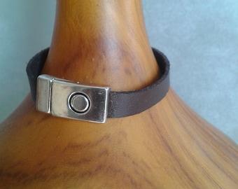 Akim - Mens  steel and leader  Bracelets