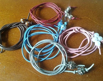 Leather ropes & Charms, Bracelets