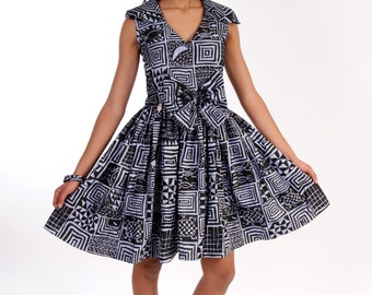 Back to the 50s with African, Bamilike fabric.