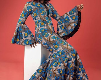 Glamorous Maxi African print cotton gown