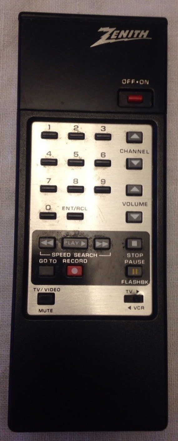 Items similar to Vintage 80's Zenith tv/vcr remote control on Etsy