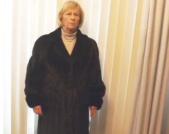 Full Length Natural Custom Made Mink Coat