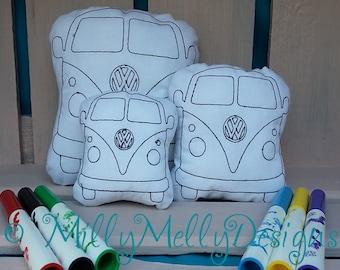 VW Van - coloring in soft toy