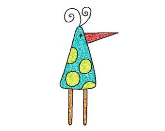 4x4 hoop BIRD Machine Embroidery Design File, digital download