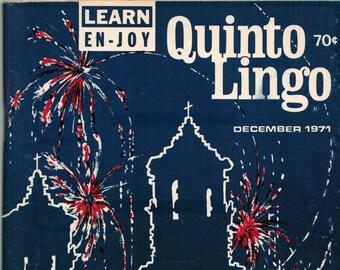 QUINTO LINGO ~ 1971/12 ~ Volume 9, Number 12
