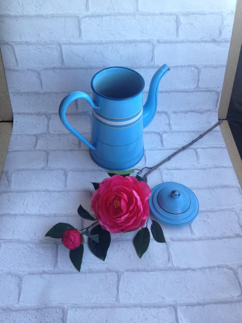 blue teapot email enamelled kettle