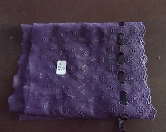 Dark purple Embroidered Lace