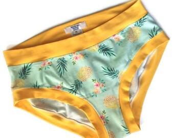 6d16dd74c6 Pinapple print ladies panties. Custom made Scrundies