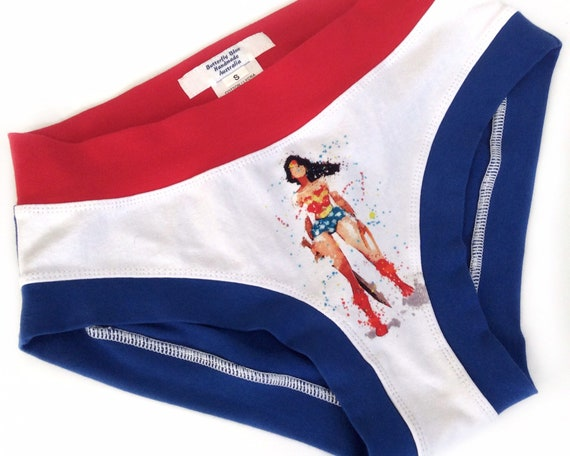 cheaper unequal in performance 2019 hot sale Wonder Woman inspired panties. Custom made ladies underwear, Scrundies,  Bunzies, Thong & Boxers in all sizes.