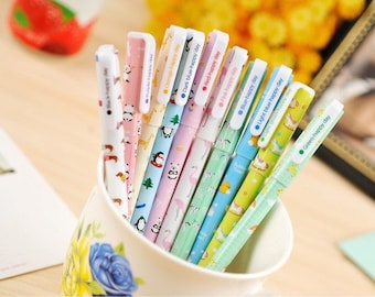Set of Cute Animal Gel Pens