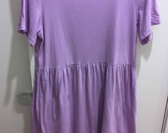 90s Lilac Purple Smock Baby Doll Dress
