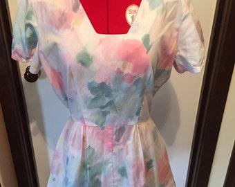 Pretty Floral Tea Dress