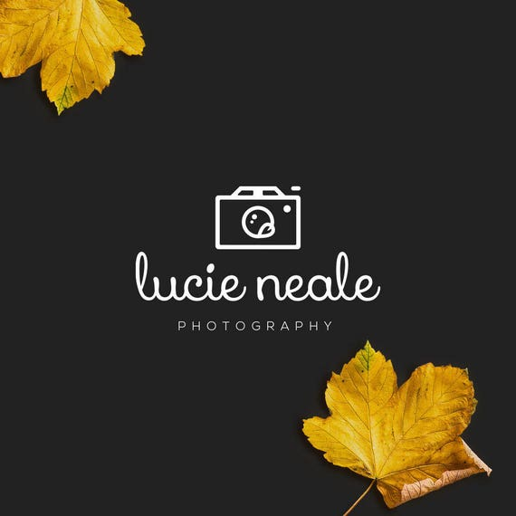 INSTANT DOWNLOAD, DIY Logo, Camera Logo Download, Unique Photography Logo, Handwritten Logo, Calligraphy Logo, Cheap Logo, Feminine Logo